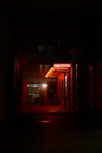 Rotlicht in der Nacht